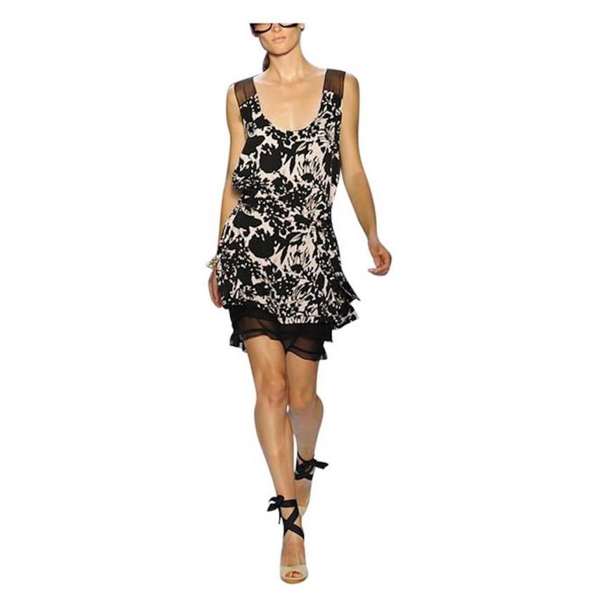 DVF Bi-COlour Alric Silk Belted Dress