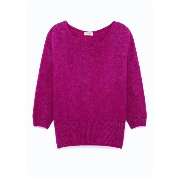 American Vintage Pink Alpaca Wool Blend Jumper