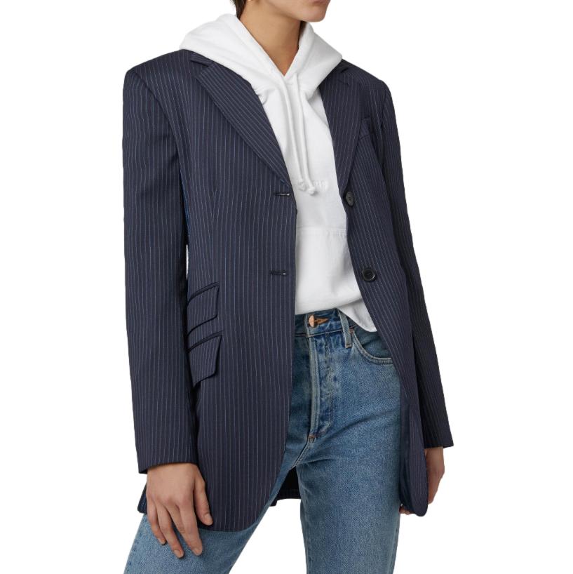 Sportmax Hidalgo Pinstriped Wool-blend Blazer