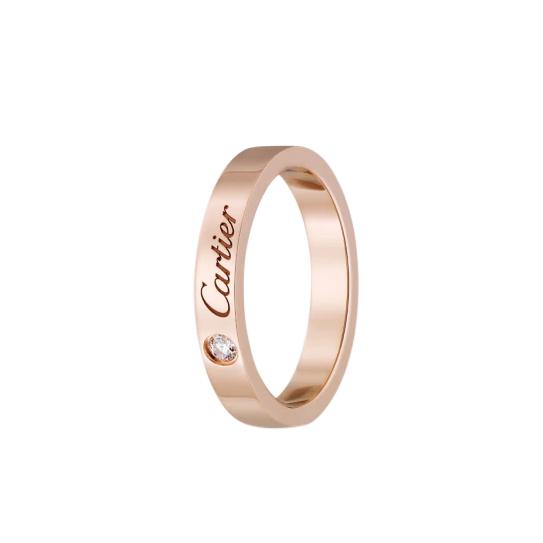 Cartier Pink Gold C de Cartier Diamond Wedding Band