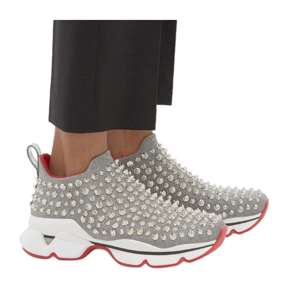 Christian Louboutin Neoprene Spike Sneakers