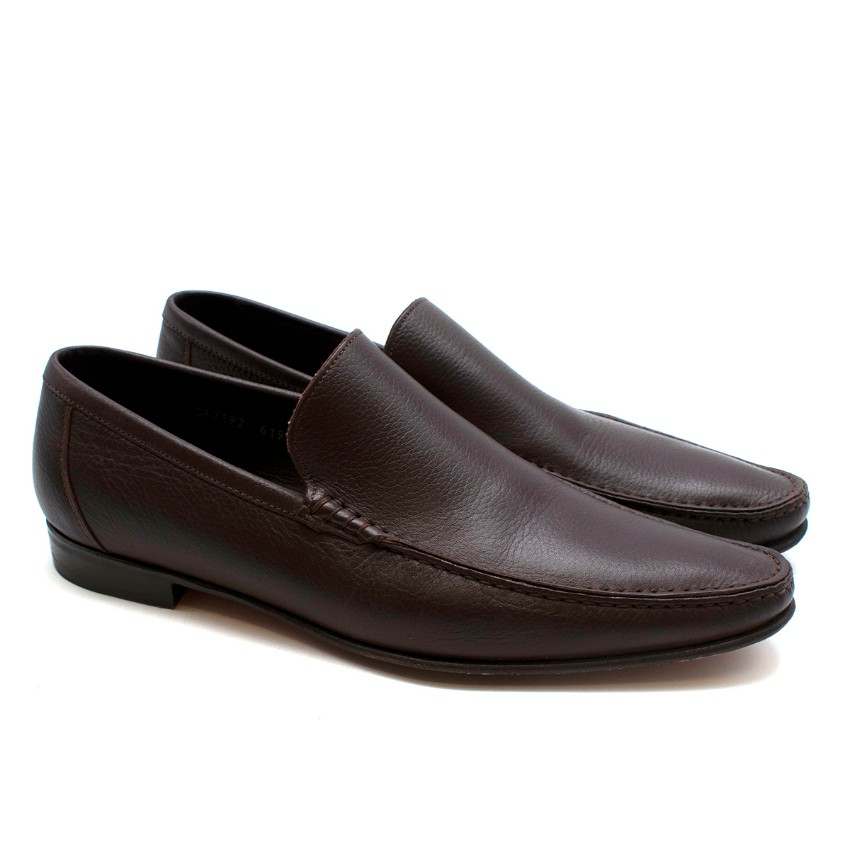 Dolce & Gabbana Brown Leather Loafers