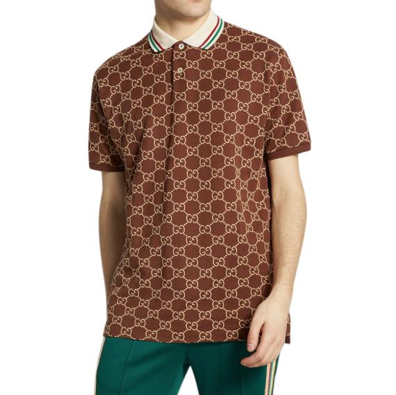 Gucci brown GG Supreme Polo Shirt