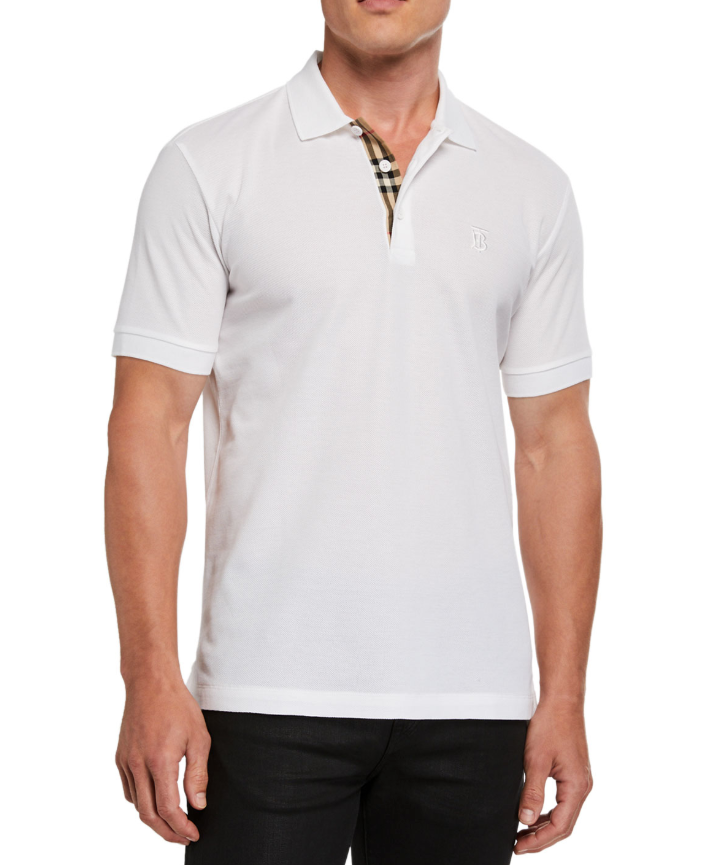 Burberry white piqu� Eddie polo shirt