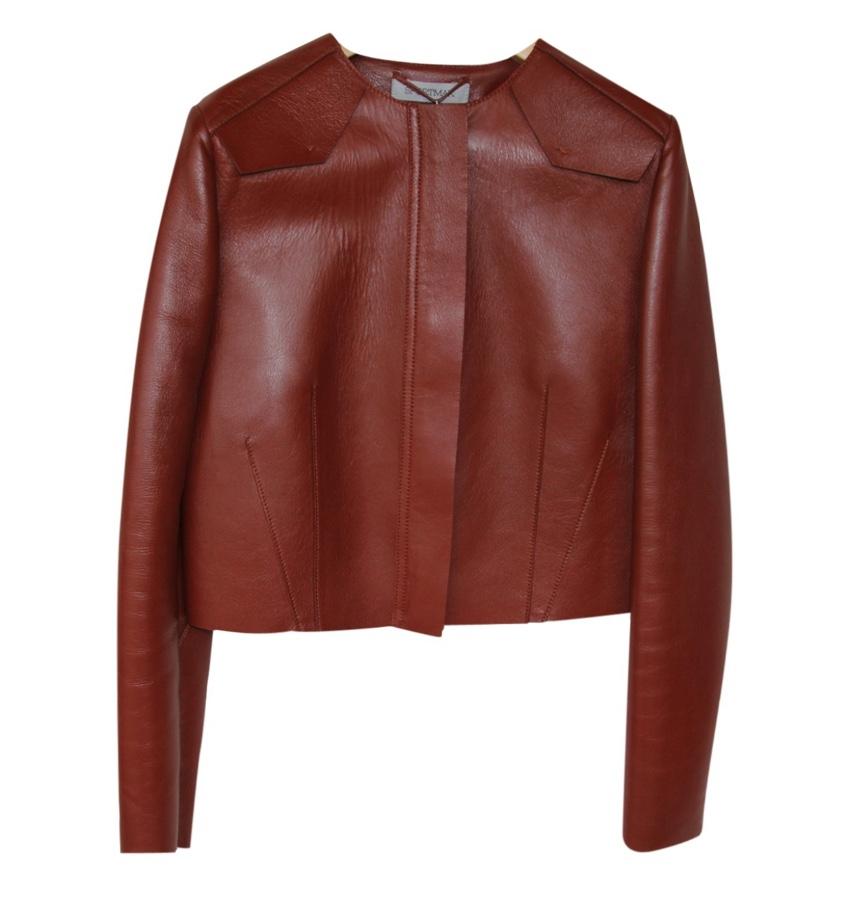 Sportmax Red Lambskin Jacket