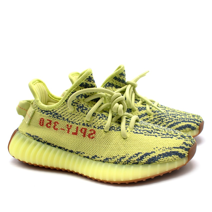 Yeezy Neon Yellow Boost 350 V2 Trainers