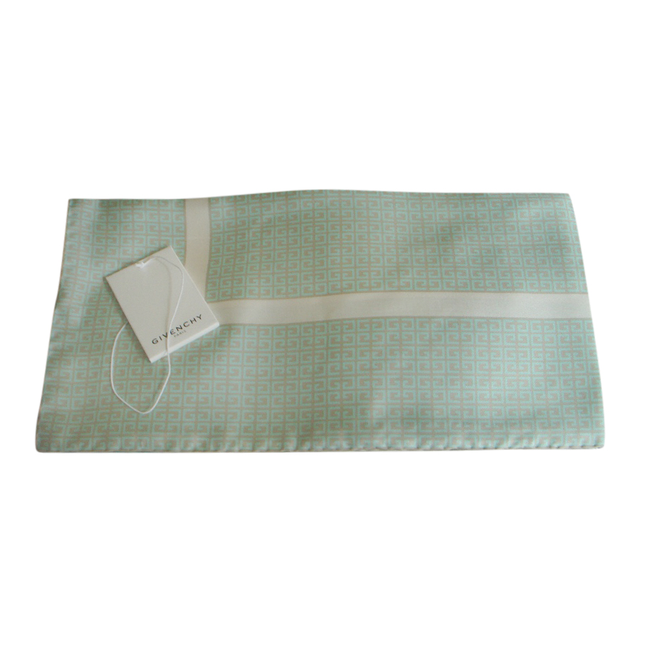 Givenchy Mint Green Silk Scarf