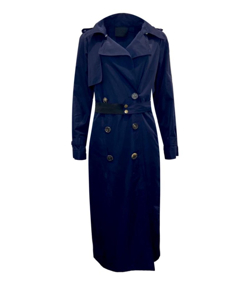 Lanvin Blue Double Breasted Trench Coat