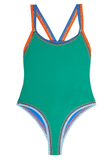Benedetta MA WOW Green Reversible One Piece Swimsuit