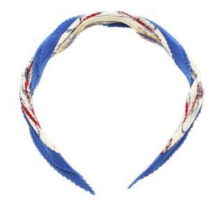 Hermes Les Becanes Silk Plisse Scarf