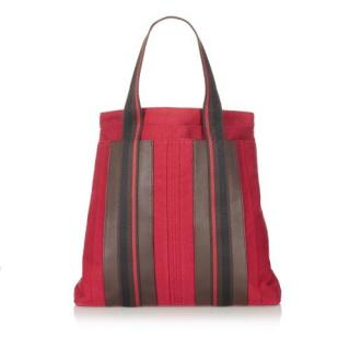 Hermes Sac Troca Vertical Canvas Tote Bag