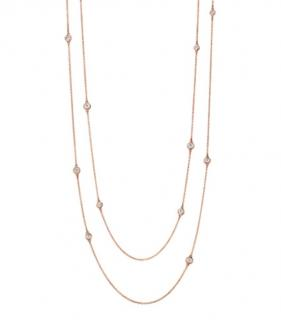 Tiffany & Co. 18kt Rose Gold Diamonds By The Yard Necklace