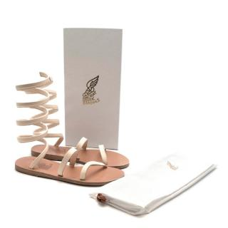 Ancient Greek Beige Leather Ofis Sandals