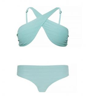 Prism Turquoise Textured Mahe Bikini