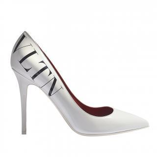 Valentino Vltn Pumps In White Leather