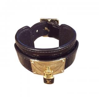 Louis Vuitton Burgundy Patent Leather Bracelet
