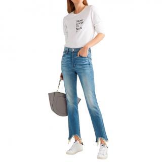 3x1 NYC Distressed High Waist Jeans