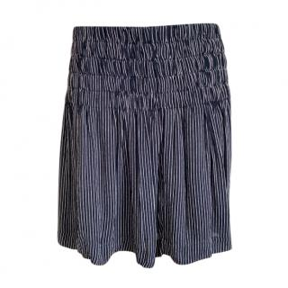 Ganni Striped Crepe Kaluga Mini Skirt