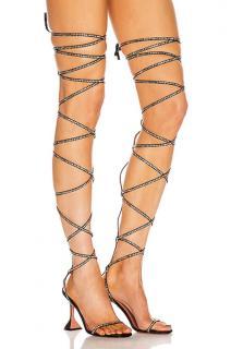 Amina Muaddi x Awge LSD Gladi Thigh High Sandals