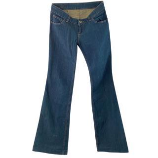 Gucci blue flared classic jeans