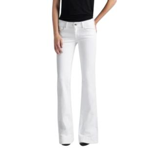 J Brand White Love Story Low-rise Flared Jeans