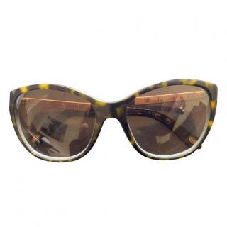 Tiffany & Co. Havana/Tiffany Blue Atlas Sunglasses