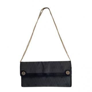 Christian Dior Black Vintage Honeycomb Shoulder Bag