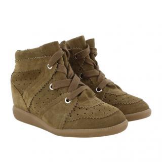 Isabel Marant Suede Wedge Bobby Sneakers
