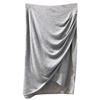 Helmut Lang Grey Draped Skirt