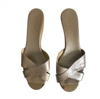 Jimmy Choo Patent Wedge Sandals