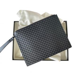 Gucci Microguccissima Black Wristlet