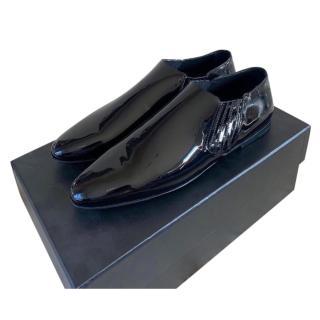 Saint Laurent Black Patent Mens Smoking Loafers