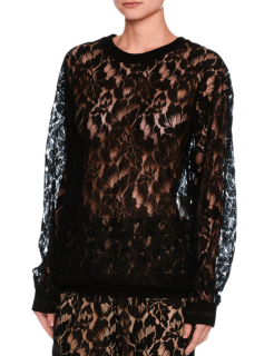 Stella McCartney Ines Floral Lace Sweatshirt