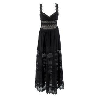 Charo Ruiz Sophia lace-trim maxi dress
