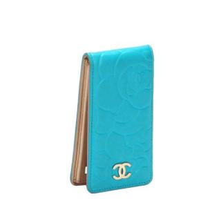 Chanel Camellia Embossed Turquoise iPhone 5/5s Case