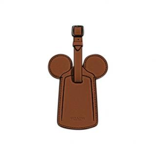 Coach Disney Mickey Ears Leather Luggage Tag