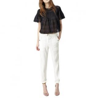 Isabel Marant Black Garbo Lace Top