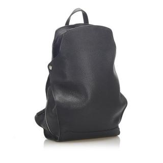 Hermes Black Clemence Leather Cityback 27 Backpack