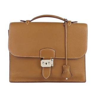 Hermes Gold Leather Taurillon Sac a Depeches 27
