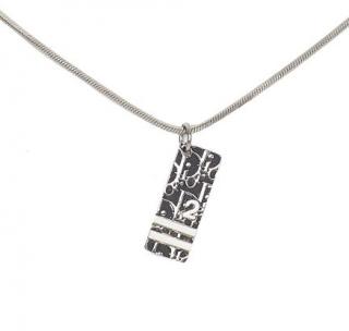 Dior Black Oblique Trotter Pendant Necklace