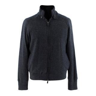 Ermenegildo Zegna Blue Cashmere Mink Fur Lined Jacket