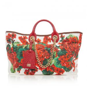 Dolce & Gabbana Capri Floral-print Canvas Tote