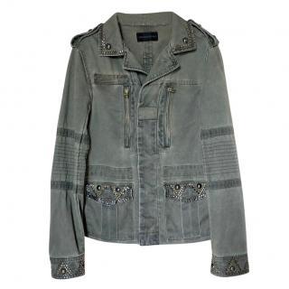 Zadig & Voltaire Khaki Klimi Studs Deluxe Jacket