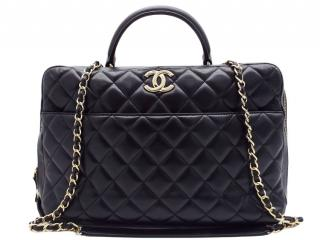 Chanel Black Quilted Trendy CC Bowler Bag