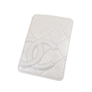 Chanel White Cambon Ligne Card Holder