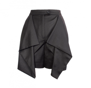 Vivienne Westwood Anglomania Wool Blend Drape Detailed Shorts