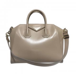 Givenchy Beige Smooth Leather Antigona Bag