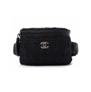 Chanel Lurex Tweed Knit Arm Band Coin Purse