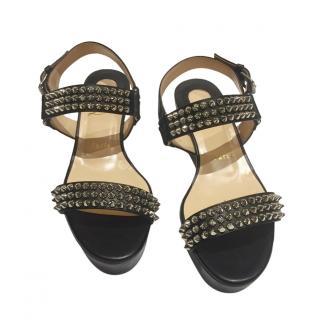 Christian Louboutin Spiked Platform Sandals