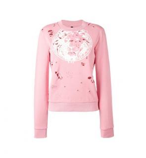 Versus Versace Distressed Pink Logo Sweatshirt
